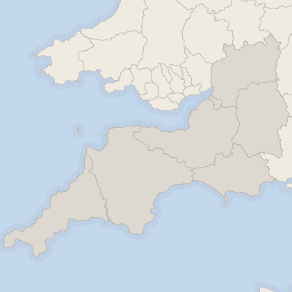 Map of house prices in South West