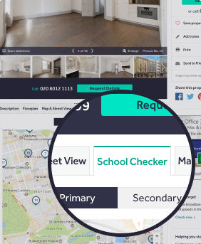 location of the school checker tab