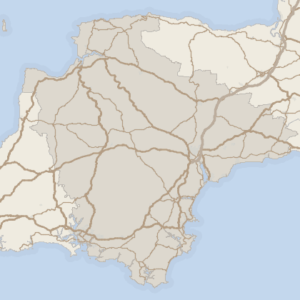 Map of property in Devon