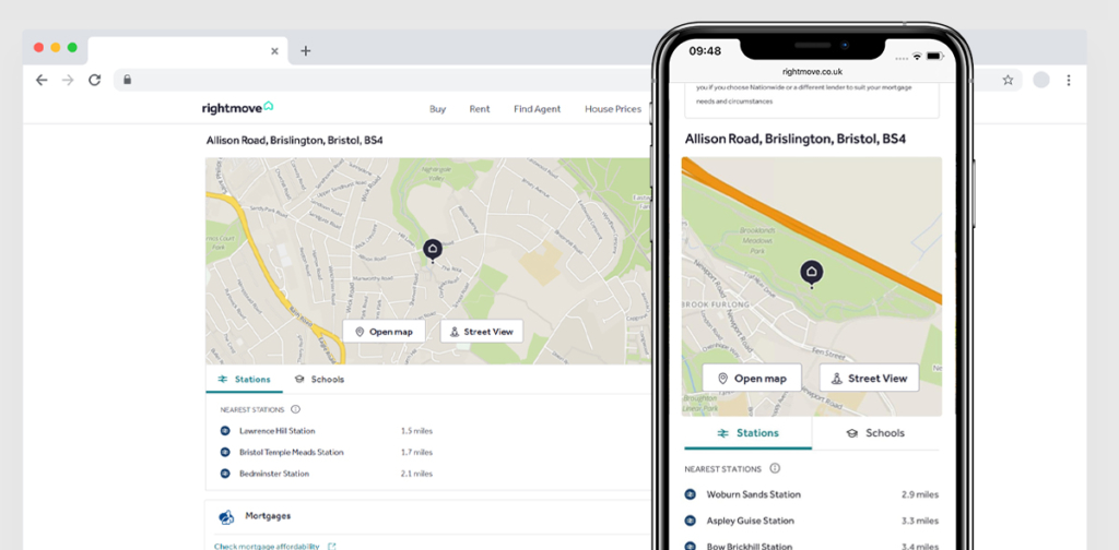 Maps and street view are now easier to get to