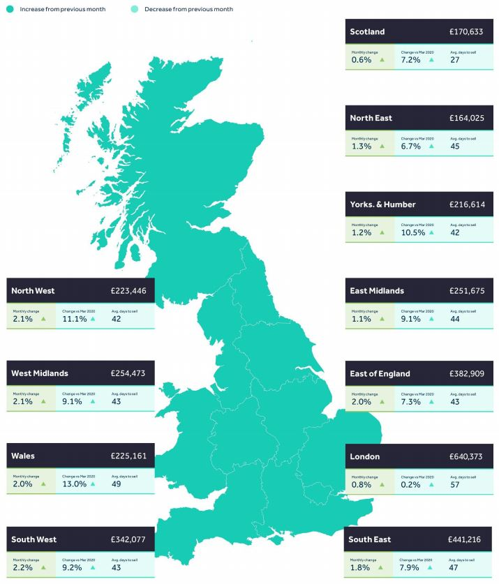 May House Price Index map