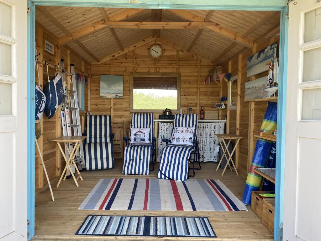 Inside a beach hut