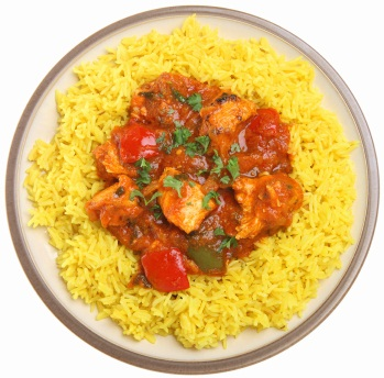 Indian Chicken Curry & Rice Meal