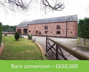 Barn conversion – £650,000