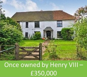 Once owned by Henry VIII – £350,000