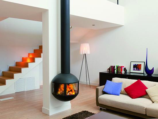 Living Room Fire Flue Installation