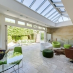 This fantastic room includes a skylight to keep it bright all year round
