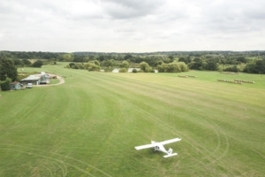 The only way is up at this Essex barn with its own airfield