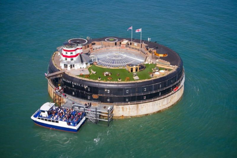 Inside two isolated sea forts that are now luxury hotels