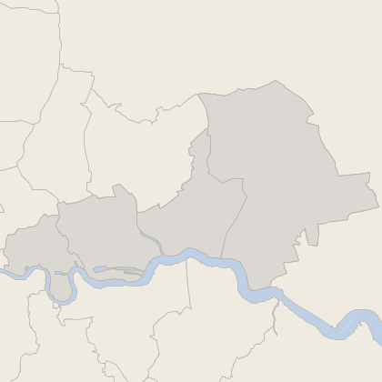 Map of house prices in East London