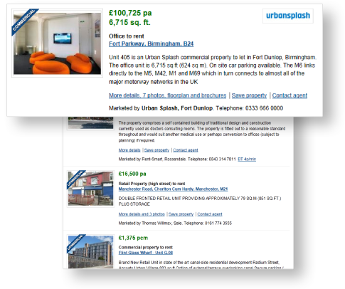 Rightmove Commercial Listing