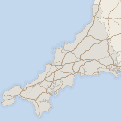 Map of property in Cornwall