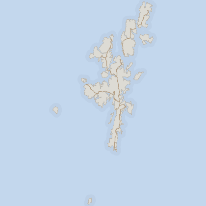Map of house prices in Shetland
