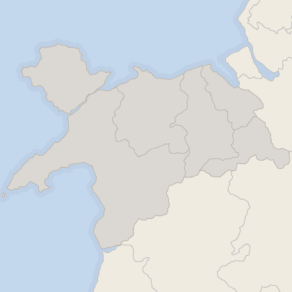Map of property in North Wales