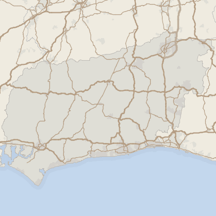 Map of house prices in West Sussex