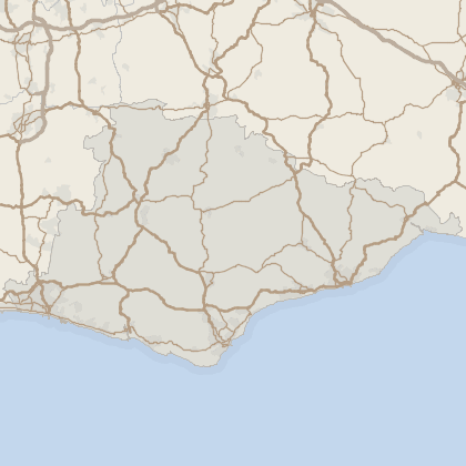 Map of house prices in East Sussex