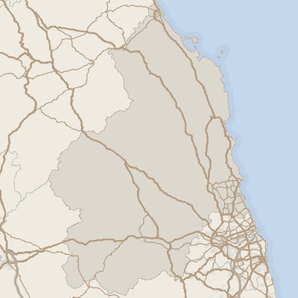 Map of property in Northumberland