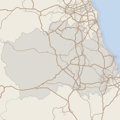 Map of property in County Durham