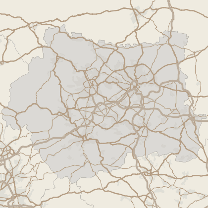 Map of house prices in West Yorkshire