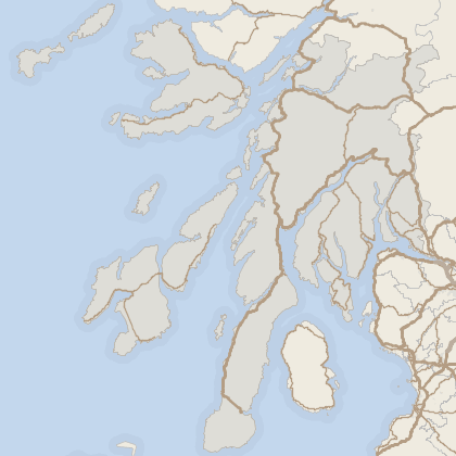 Map of house prices in Argyll and Bute