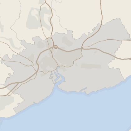 Map of house prices in Newport (County of)