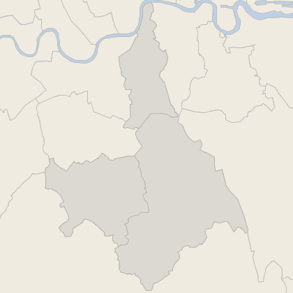 Map of property in South London