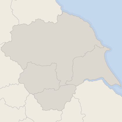 Map of property in Yorkshire and the Humber