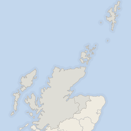 Map of property in Highlands and Islands