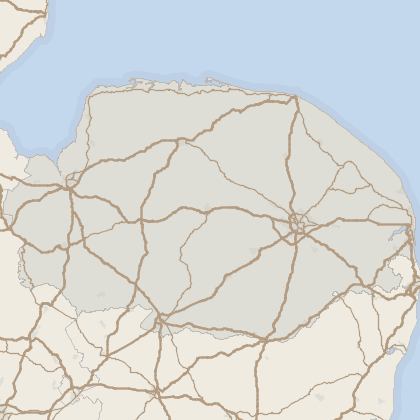 Map of property in Norfolk