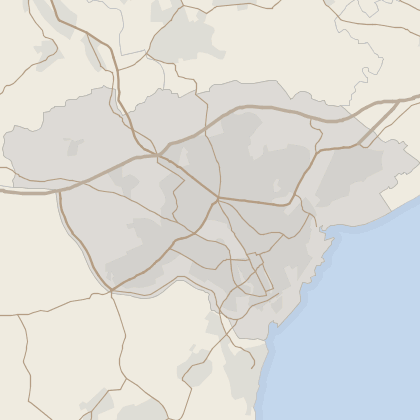 Map of property in Cardiff (County of)