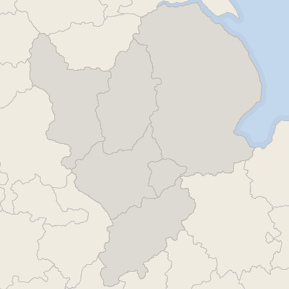 Map of property in East Midlands