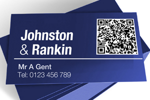 QR code use example