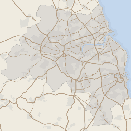 Map of house prices in Tyne And Wear