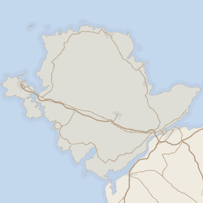 Map of house prices in Isle Of Anglesey