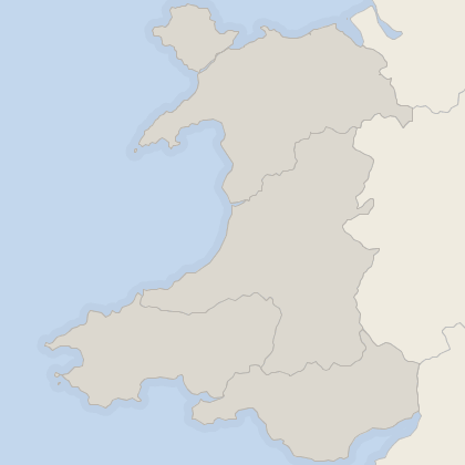 Map of house prices in Wales